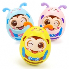 Baby Infant Creative Hand Catch Ball Children Educational Toys for 3-6-9-12 months baby Yellow One Size