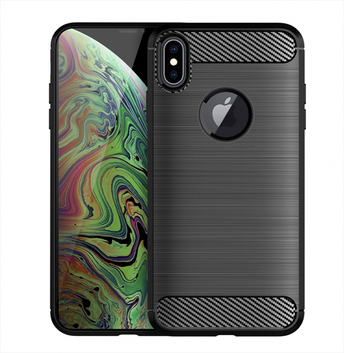 978f3292005 Apple iPhone XS Max 6.5 Inch Case Rugged Armor Carbon Fiber Soft TPU  Shockproof Protective Case