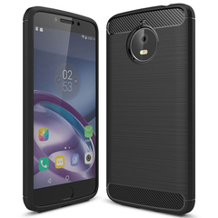 Moto E4 Plus Smartphone Case Rugged Armor Carbon Fiber Soft TPU Shockproof Protective Case blue black for Moto E4 Plus