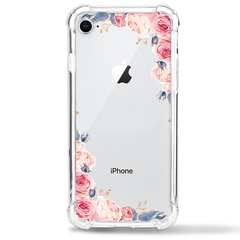 Apple iPhone 8 Case Flower Soft TPU Shock Transparent Clear Protective Phone Case Cover colour1 for Apple iPhone 8