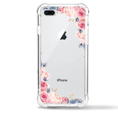 Apple iPhone 8 Plus Case Flower Soft TPU Shock Transparent Clear Protective Phone Case Cover colour1 for Apple iPhone 8 Plus