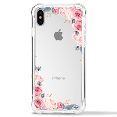Shinwo Apple iPhone X Case Flower Soft TPU Shock Transparent Clear Protective Phone Case Cover colour1 for Apple iPhone X/iPhone 10 5.8''