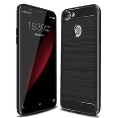 Shinwo OPPO A75 Smartphone Case Rugged Armor Carbon Fiber Soft TPU Shockproof Protective Case black for OPPO A75 OPPO A75S