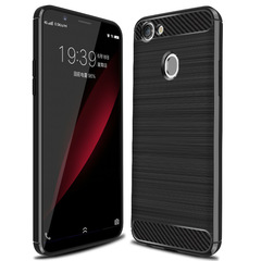 Shinwo OPPO A79 Smartphone Case Rugged Armor Carbon Fiber Soft TPU Shockproof Protective Case black for OPPO A79