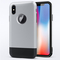 Apple iPhone X Case Rugged Armor Soft TPU+Back Hard [Shockproof] Phone Case Cover sliver for Apple iPhone X/iPhone 10 5.8''