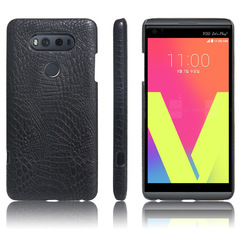 LG V20 Case Crocodile leather PC Material [Drop-Pprotection] Phone Case Cover black for LG V20 2016 Smartphone