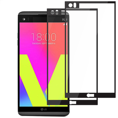 [2-Pack]-Shinwo LG V20 [9H Hardness][Bubble-Free] [Full Coverage Tempered Glass] Screen Protector Black LG V20