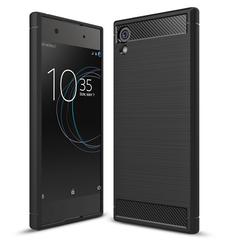 Shinwo Sony Xperia XA1 Plus Smartphone Rugged Armor Carbon Fiber TPU Shock Proof Protective Case black for Sony Xperia XA1 Plus