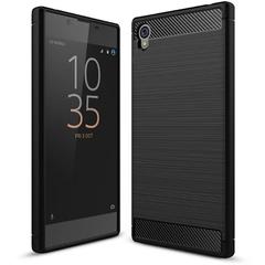 Shinwo Sony Xperia L1/Xperia E6 Smartphone Rugged Armor Carbon Fiber TPU Shock Proof Protective Case black for Sony Xperia L1/Xperia E6
