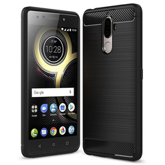 Shinwo Lenovo K8 Note Smartphone Rugged Armor Carbon Fiber TPU Shock Proof Protective Case black for