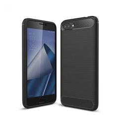 Shinwo ASUS Zenfone 4 Max Plus Smartphone Rugged Armor Carbon Fiber TPU Shock Proof Protective Case black for ASUS Zenfone 4 Max Plus 5.5''