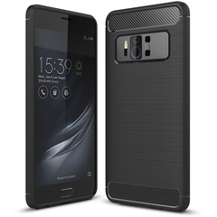 Shinwo ASUS Zenfone AR Smartphone Rugged Armor Carbon Fiber TPU Shock Proof Protective Case black for ASUS Zenfone AR 5.7''