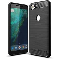 Shinwo Google Pixel 2 XL Smartphone Rugged Armor Carbon Fiber TPU Shock Proof Protective Case black for Google Pixel 2 XL 6.0''