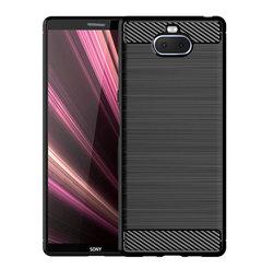 Shinwo Sony Xperia XA3 Ultra Smartphone Rugged Armor Carbon Fiber Soft TPU Shockproof Phone Case black for  Sony Xperia XA3 Ultra 6.0''