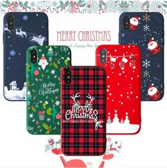 Iphone 7 6 6S X XS Max XR Case Cover Christmas Pattern Soft Phone Case Shell Cover 1 for iphone 6 /6s