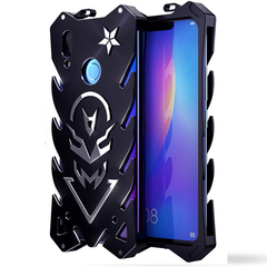 Huawei Y9 2019 (Enjoy 9 Plus) Mobile Phone Metal Frame Full Body [Drop-Protection] Phone Case Black for Huawei Y9 2019 (Enjoy 9 Plus)