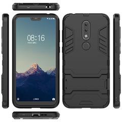 Nokia 6.1 Plus (Nokia X6) Nokia 7 Case Cover Rugged Armor [Drop-protection] with Kickstand Black for Nokia 6.1 Plus (Nokia X6)