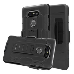 LG G3 G2 G4 G5 G6 V10 X Style Phone Case Rugged Armor Heavy Duty [Drop-Protection] With Kickstand Black for LG G2