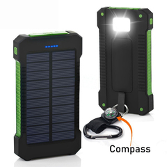 Hot Sale Solar Portable Charger 8000mAh with Portable Dual USB Solar Battery Fast Charger Green (actual capacity 8000mah)