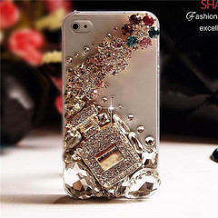 Diamond  Case for Iphone 5 5s 6 6 Plus 7 7 Plus Xs Case rhinestone Clear PC Case for iphone XS Perfume bottle pattern for  iphone 5g /5s /se
