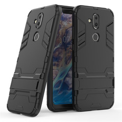 Nokia 7.1 Plus / Nokia X7 Smartphone Phone Case Rugged Armor [Drop-protection] with Kickstand Black for Nokia 7.1 Plus / Nokia X7 / Nokia 7 Plus 2018