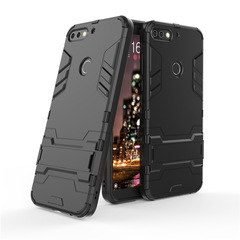 Shinwo Huawei Y7 / Y7 Prime (2018) Smartphone Case Rugged Armor [Drop-protection] with Kickstand black for Huawei Y7 / Y7 Prime (2018) Smartphone