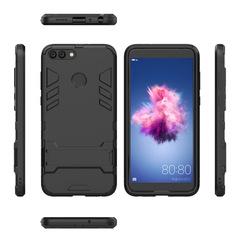 Shinwo Huawei Nova Lite 2 / P Smart Smartphone Case Rugged Armor [Drop-protection] with Kickstand black for Huawei Nova Lite 2 / P Smart