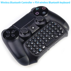 PS4 Wireless Controller Bluetooth Game Controller Double Vibration + Wireless Bluetooth Keyboard black Game Controller + Keyboard One Size