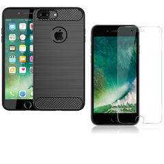 Hot Sale Shinwo [1-Pack] iPhone 8 Plus Case + iPhone 8 Plus [Tempered Glass] Screen Protector black for iPhone 8 Plus