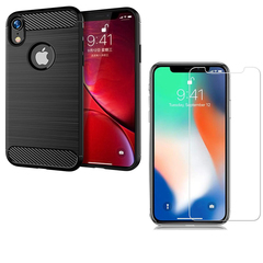 Hot Sale Shinwo [1-Pack] iPhone XR Phone Case + iPhone XR [Tempered Glass] Screen Protector black for iPhone XR