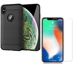 Hot Sale Shinwo [1-Pack] iPhone XS Max Phone Case + iPhone XS Max [Tempered Glass] Screen Protector black for iPhone XS Max (6.5'')