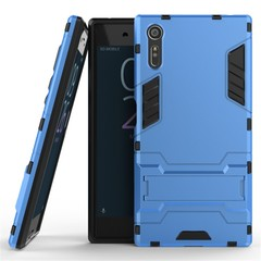 Shinwo Sony Xperia XZ Smartphone Case Rugged Armor [Drop-protection] with Kickstand Blue for Sony Xperia XZ