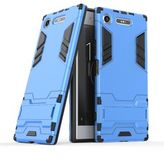 Shinwo Sony Xperia XZ1 Smartphone Case Rugged Armor [Drop-protection] with Kickstand Blue for Sony Xperia XZ1