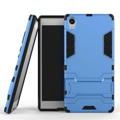 Shinwo Sony Xperia Z5 Premium Smartphone Case Rugged Armor [Drop-protection] with Kickstand Blue for Sony Xperia Z5 Premium
