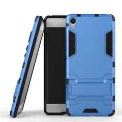 Shinwo Sony Xperia XA Smartphone Case Rugged Armor [Drop-protection] with Kickstand Blue for Sony Xperia XA
