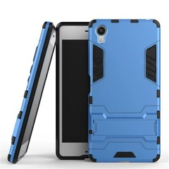Shinwo Sony Xperia X Smartphone Case Rugged Armor [Drop-protection] with Kickstand Blue for Sony Xperia X
