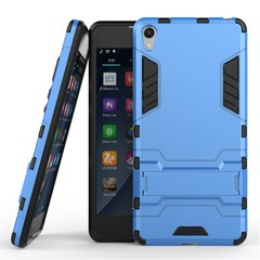 Shinwo Sony Xperia E5 Smartphone Case Rugged Armor [Drop-protection] with Kickstand Blue for Sony Xperia E5