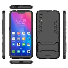 Shinwo VIVO Y97 VIVO Y93 / Y93 S Smartphone Case Rugged Armor [Drop-protection] with Kickstand Black for VIVO Y97