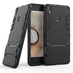 Shinwo VIVO V3 MAX Smartphone Case Rugged Armor [Drop-protection] with Kickstand Black for VIVO V3 MAX