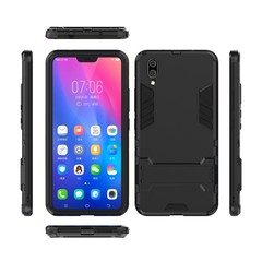Hot Sale VIVO X21 Smartphone Case Rugged Armor [Drop-protection] with Kickstand Black for VIVO X21