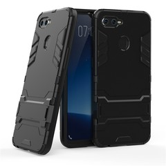 Hot Sale Shinwo OPPO F9 Smartphone Phone Case Rugged Armor [Drop-protection] with Kickstand Black for OPPO F9