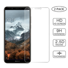 [2-Pack]-Shinwo Huawei Y7 2018 / Y7 Prime 2018 Smartphone [9H Tempered Glass] Screen Protector Clear for Huawei Y7 2018 / Y7 Prime 2018 Smartphone