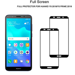 [2-Pack]-Huawei Y5 2018 / Y5 Prime 2018 Smartphone [Full Coverage Tempered Glass] Screen Protector Black for Huawei Y5 2018 / Y5 Prime 2018 Smartphone
