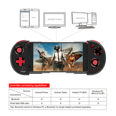 IPEGA PG-9087 Wireless Game Controller with telescopic phone stand for Android/Smartphone/TV Box PC Black One Size