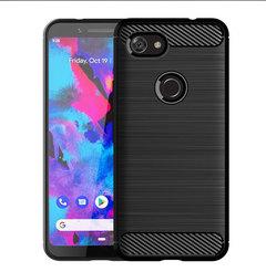 Google Pixel 3 Lite Smartphone Case Rugged Armor Carbon Fiber Soft TPU Shockproof Protective Case black for Google Pixel 3 Lite Smartphone