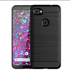 Google Pixel 3 XL Lite Smartphone Case Rugged Armor Carbon Fiber Soft TPU Shockproof Protective Case black for Google Pixel 3 XL Lite