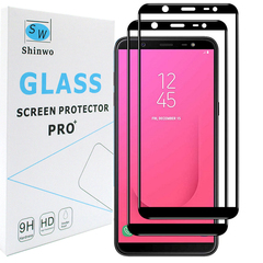 [2-Pack]-Samsung Galaxy J8 2018 Smartphone [Full Coverage Tempered Glass] Screen Protector black for Samsung Galaxy J8 2018 Smartphone