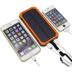 Hot Sale Solar Portable Charger 20000mAh with Portable Dual USB Solar Battery Fast Charger green (actual capacity 8000mah)