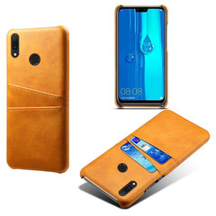 Hot Sale Huawei Y9 2019 Smartphone Case Good Leather PC Material Card Slot Mobile Phone Case Cover Orange for Huawei Y9 2019 Smartphone