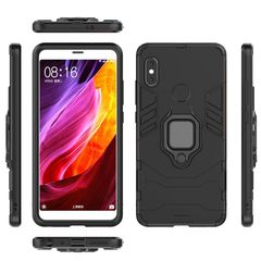 Xiaomi Redmi Note 5 Case Rugged Armor [Drop-protection] with Car magnetic Ring Holder black for Xiaomi Redmi Note 5